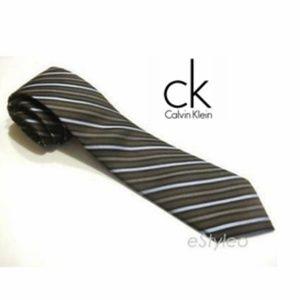 Calvin Klein 100% Silk Stripe print Tie Neckwear